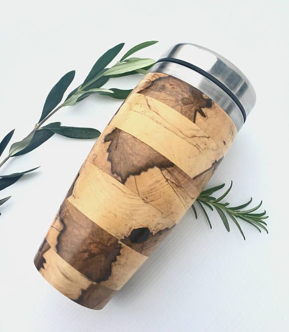 Spalted Sassafras Black Hearted Coffee Traveller Keep Cup His