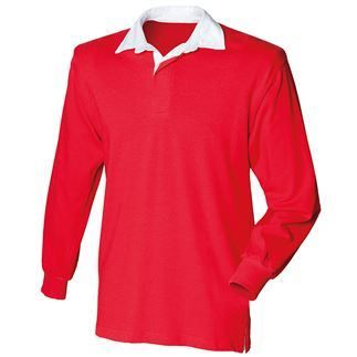 Kids long sleeve plain rugby shirt | FR109 | Casual Apparel