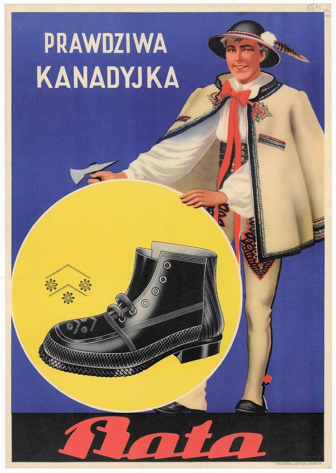 Prawdziawa Kanadyjka Bata Plakat 1910 1920 Krakow Druk Sztuka 48x34 Cm Zrodlo Biblioteka Narodowa Poster Art Movie Posters
