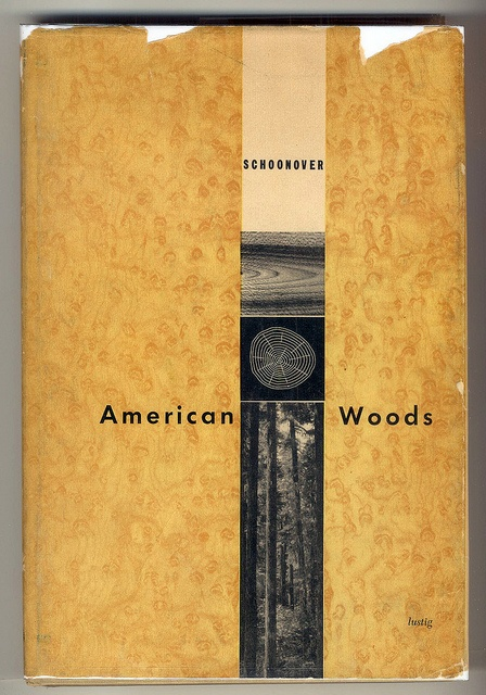 """American Woods"" cover design by Alvin Lustig (1951)"