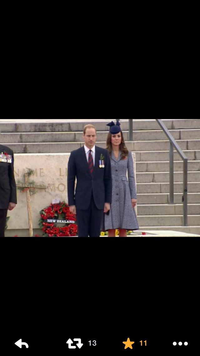 Royals on Anzac Day