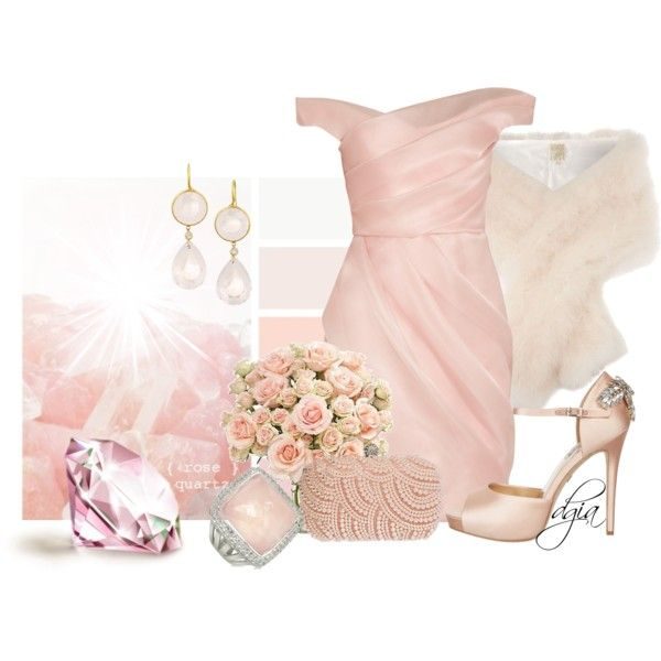 """""""Pink quartz"""" by dgia on Polyvore"""