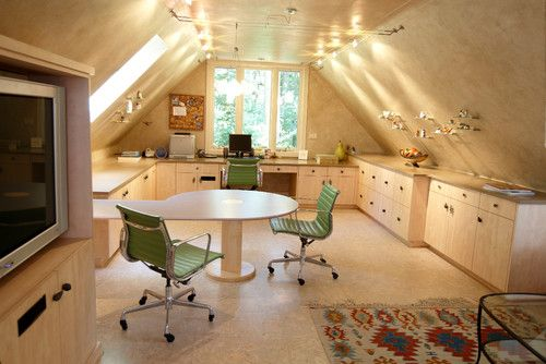 Attic workspace | Jaque Bethke, PURE Design Environments Inc. | houzz.com...
