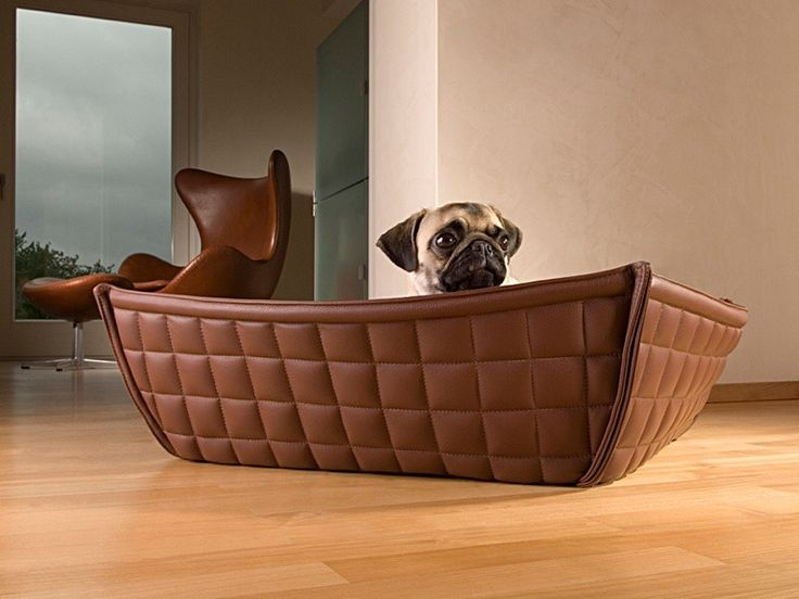 bowl faux leather pet bed [CI-BOWL-0-S-FLCRCR] - $880.00 : Luxury Pet Furniture & Accessories | Modern Pet Supplies For Pampered Pets