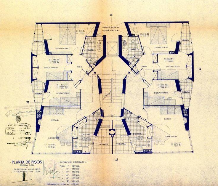 José A. Coderch, habitatges a la Barceloneta, Barcelona, 1951