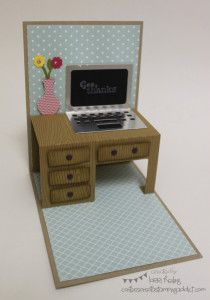 School Bus and Desk Card ::  Confessions of a Stamping Addict Lorri Heiling