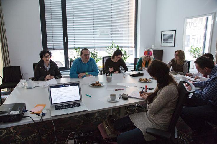 aktive Workshop Teilnehmer  #Storytelling #7Pointstory #Workshop