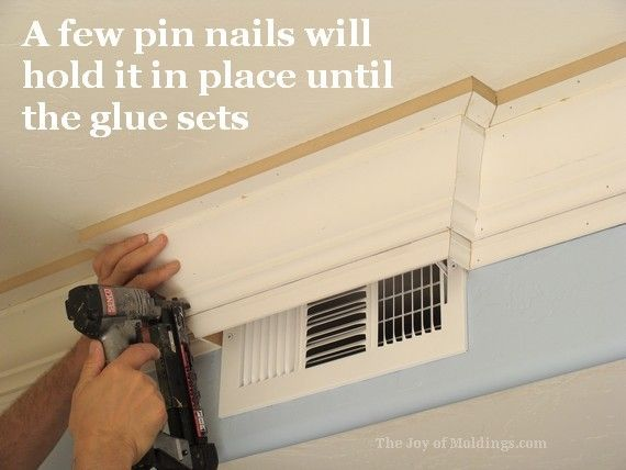 hard cuts crown molding | Kitchen Crown Molding Installation: The Last Piece Goes In | The Joy ...