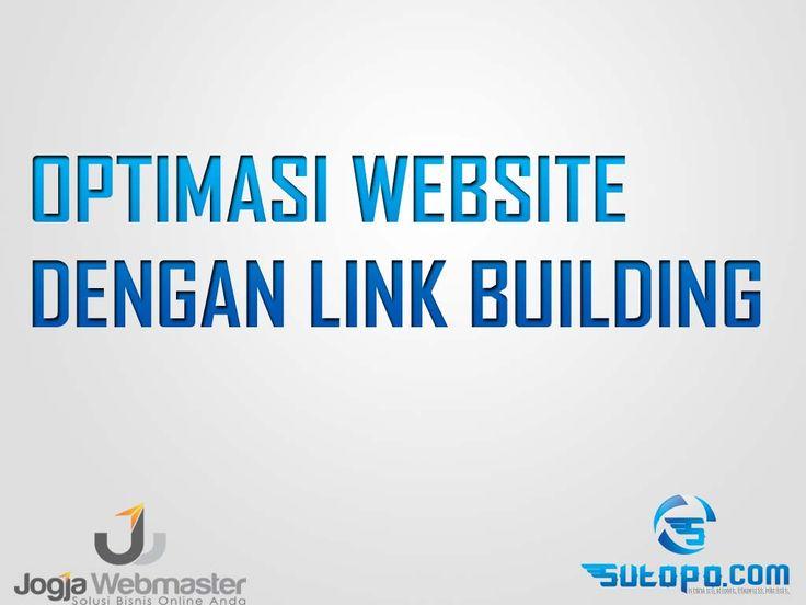 Belajar SEO - optimasi link buidling website wordpress blogspot