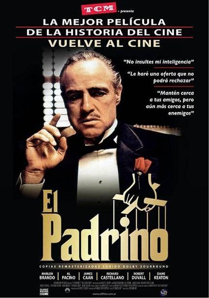 La película El Padrino I, se desarrolla en Nueva York en los años 40, donde Don Vito Corleone es uno de los jefes de las 5 bandas que residen la ciudad y...