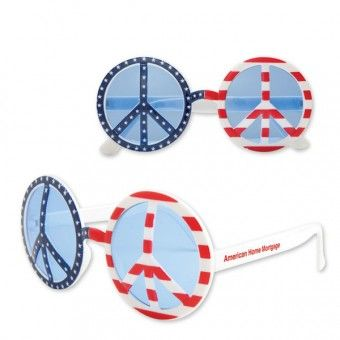 Promotional patriotic peace sunglasses get popular around days of national importance and people are always happier to grab them.  #patriotic #sunglasses