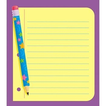 """Trend Enterprises  Note Paper Note Pad, 5""""x5"""", 50 sheets. It's a note in a note! Large note pad with plenty of writing space. Bulk wholesale school supplies for teachers."""