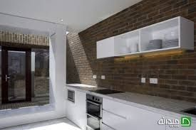 here is another photo from a kitchen with a brick wall design
