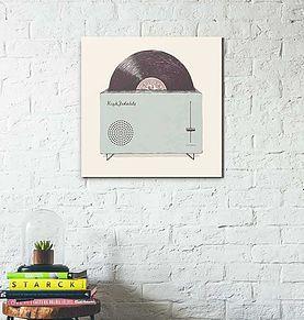 Un tableau rétro qui ravira les fans des 70's et apportera une touche originale aux chambres d'enfants sages.  A partir de 30x30 #retro #vinyl #sixities #chall #art #design #decoration #tableau