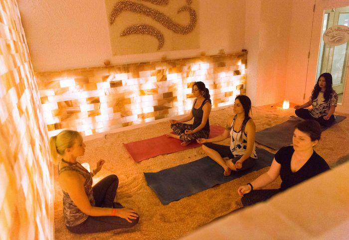Breathe Easy is a halotherapy spa at 1 Park Avenue that just launched yoga classes in…a salt chamber.