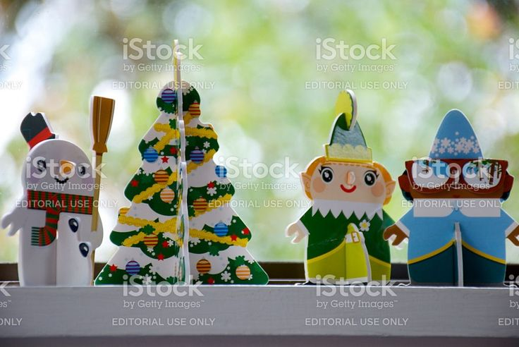 New Zealand Supermarket New World's 'Little Christmas' Characters royalty-free stock photo