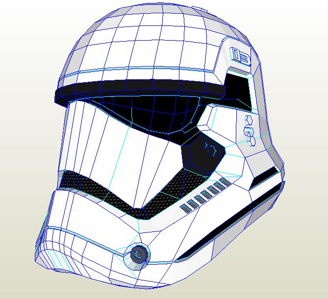 Star Wars Episode 7 Stormtrooper Helmet Paper A4 [Star Wars Ep7 Stormtrooper Helm] - It's Free! : Pepakura Library, The worlds largest repository of Pepakura Files