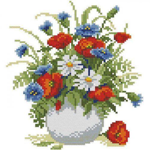زهور متفتحة: ورود بتطريز الايتامين