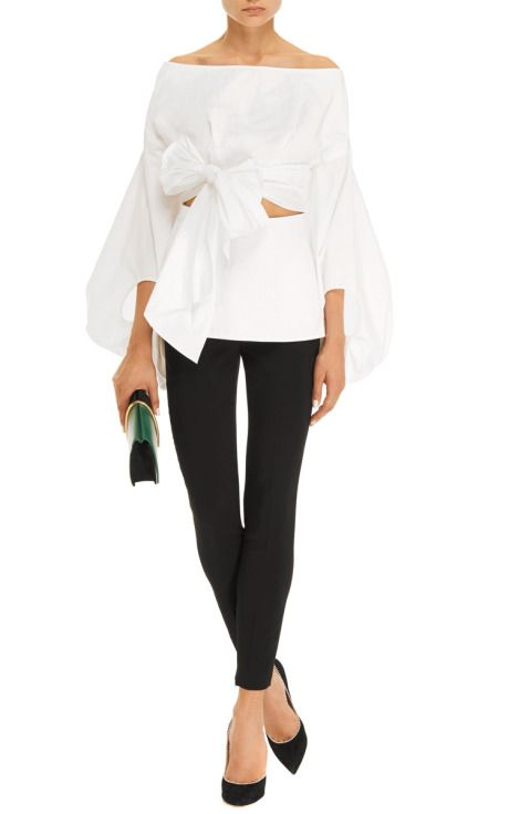 Belted Cut-Out Cotton-Poplin Top by Rosie Assoulin - Moda Operandi