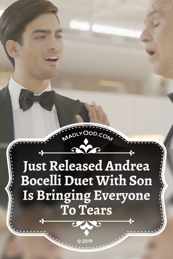 Andrea Bocelli Duets With Son For The First Time With Fall On Me