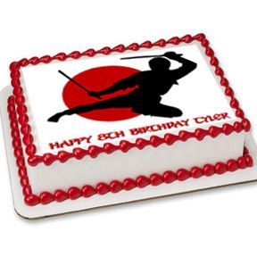 Ninja & Karate cake toppers ninja edible image by SugarPRINTcess