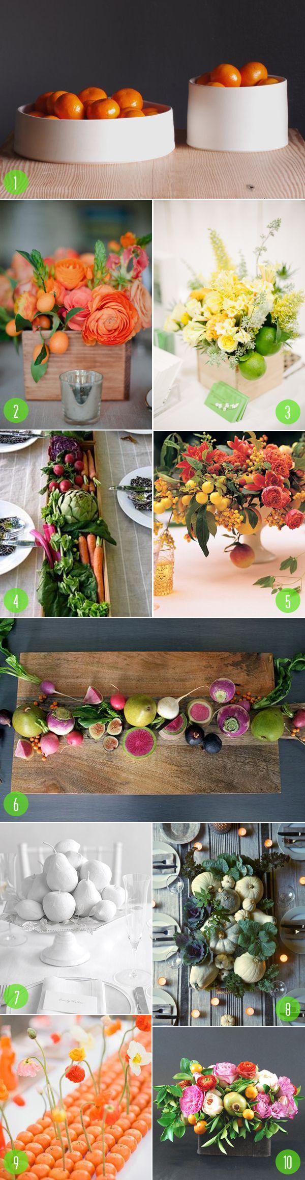 Top 10: Fruit & veggie centerpieces