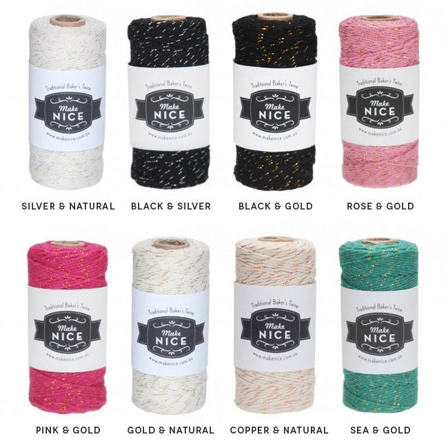 Sparkly Luxe Baker's Twine With Sparly Thread
