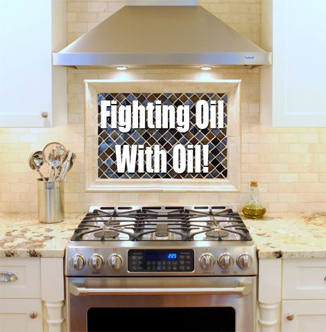 A Quick Tip For Cleaning Kitchen Oil Splatters . . . Fight Oil With Oil!One Good Thing by Jillee   One Good Thing by Jillee