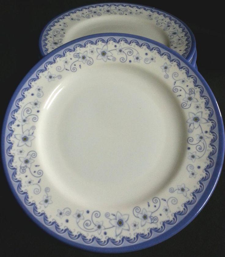 6 Piece Melamine Plastic BLUE Dinner Plate Gift Set