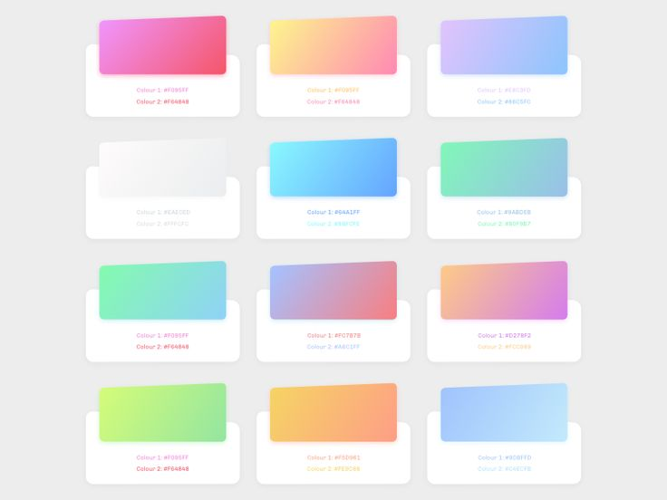 Gradients with color code More