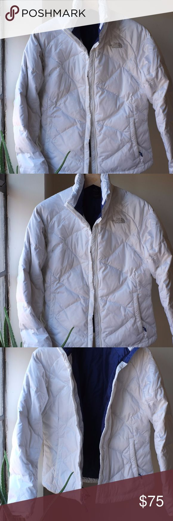 Northface Pearl White Nuptse Jacket This is a 2 year old coat that was a Christmas gift and has been worn maybe a handful of times out of guilt (my mother bought it for me). I am not a Northface fanatic and already have several coats that fit this purpose as a snowboarder. Smoke-free home, extremely clean. The North Face Jackets & Coats Puffers