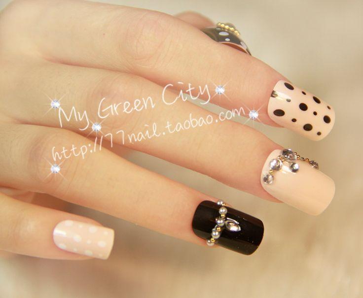 Aliexpress.com : Buy NEW 2013 High Quality Korean Style Natural False Nails,Elegant Fake Nail,drill cute full cover  Nail Tips,24 pcs,Free Shipping on Jessie's shop. $7.69