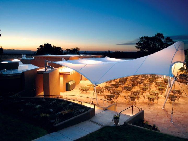 The Santa Fe Opera Cantina tensile structure. Photo: FTL Design Engineering Studio.