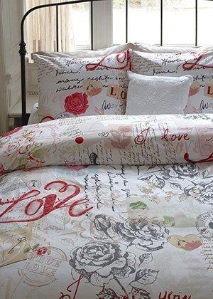 Ariadne at Home Dekbedovertrek Love Roses multi
