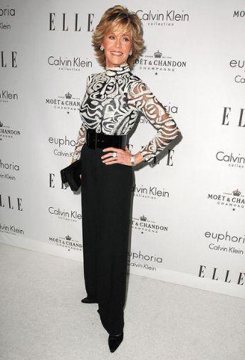 Jane Fonda Fashion and Style - Jane Fonda Dress, Clothes, Hairstyle