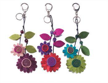 great idea for felt flower key ring £4.99