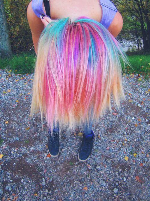 Short Cute Rainbow hairstyle
