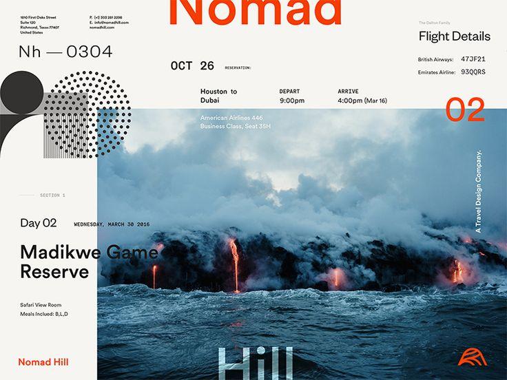 Nomad Hill Brand Board by Andrew Littmann #Design Popular #Dribbble #shots