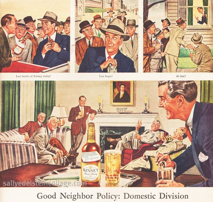Booze Kinsey Whiskey Ad 1945 | by Retroarama