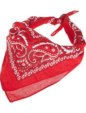 Bandana imprimé                             rouge Homme  - Kiabi