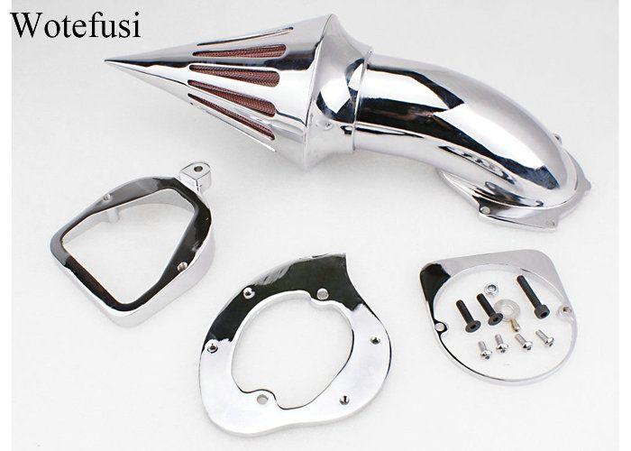 Wotefusi Chrome Air Cleaner Kits Spike Filter For Honda