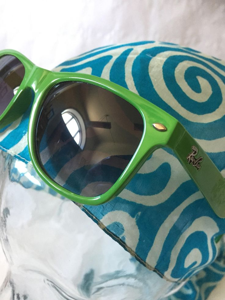 green/wayfarer/rayban/sunglasses/made in Italy by WifinpoofVintage on Etsy