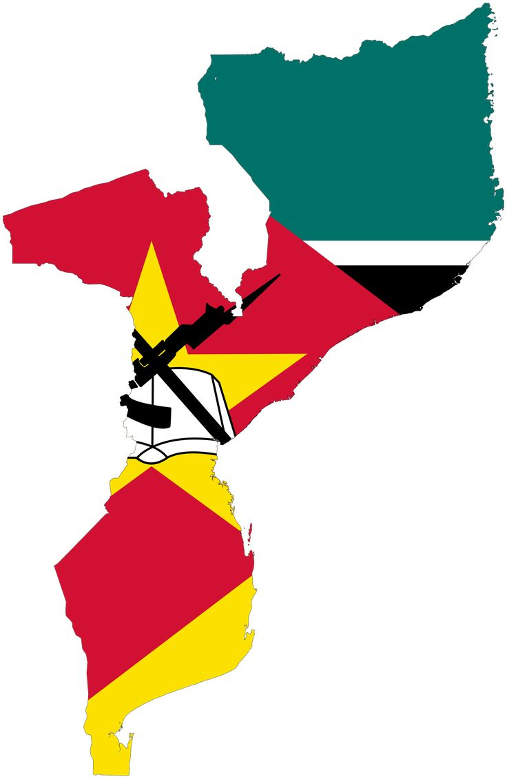 Mozambique Flag map