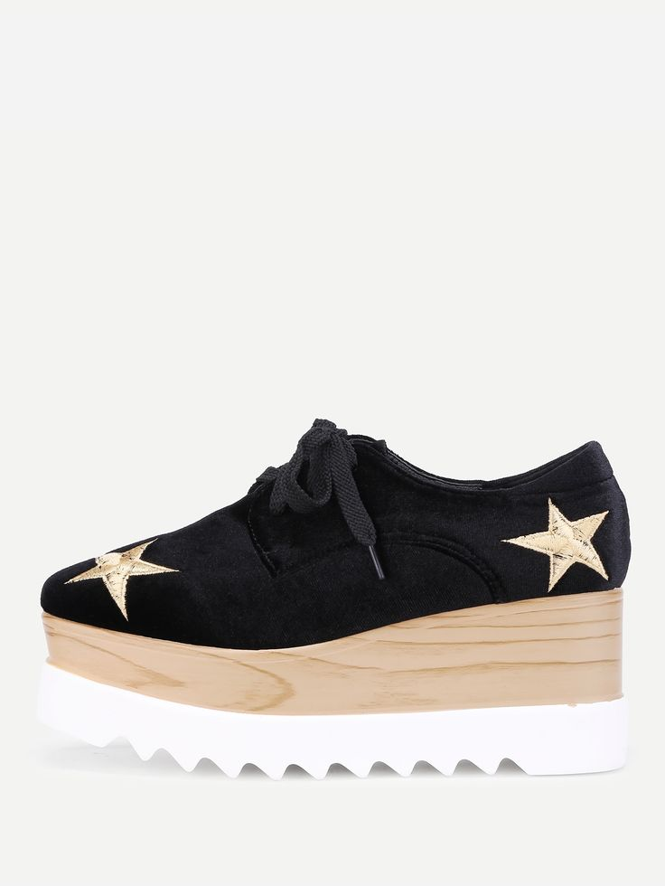 Shop Star Embroidery Lace Up Velvet Wedges online. SheIn offers Star Embroidery Lace Up Velvet Wedges & more to fit your fashionable needs.