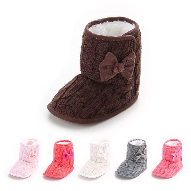 Hiver 3 couches pompons bébé bottes en bas âge tout-petits bottes de fond molles Noir YCwOZBk