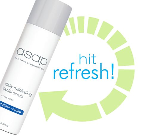 Give your skin a refresh with asap daily exfoliating facial scrub! Scientifically formulated to promote cell renewal and stimulate collagen, this exfoliating scrub improves the appearance and texture of the skin. Brighter, refreshed and renewed skin from the very first use!