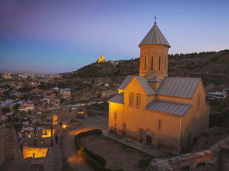 St. Nicholas Church, Tbilisi:  When we asked our Facebook fans what city we should feature on our website, Buba Radiani recommended Tbilisi, Georgia. Here, St. Nicholas Church sits amid the ruins of the fourth-century Narikala Fortress in the Georgian capital. The original St. Nicholas, built in the 13th century, was destroyed by fire and replaced with a replica in the 1990s. The battlements of the surrounding fortress afford panoramic views of the Silk Road city.