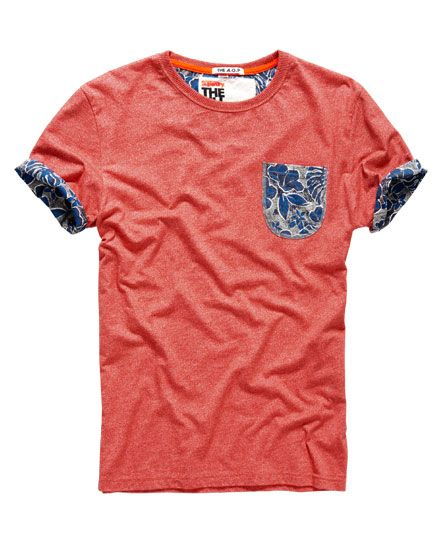 Shop Superdry Mens Honolulu Roll T-shirt in Red Grit. Buy now with free  delivery from the Official Superdry Store.
