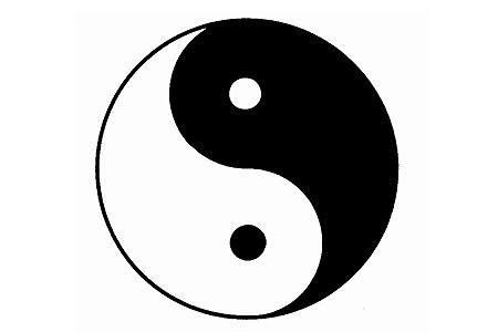 Das Zeichen von Yin und Yang symbolisiert die Harmonie der Gegensätze. http://www.focus.de/gesundheit/gesundleben/alternativmedizin/chinamedizin/tcm/traditionelle-chinesische-medizin_aid_20384.html