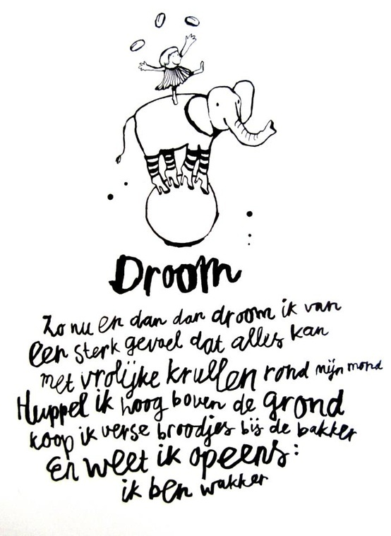 Droom  - inspiring quote by Sukha Amsterdam